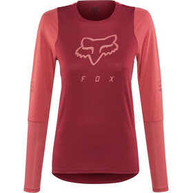 Fox Defend LS Jersey Damen cardinal